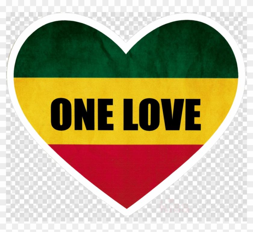 Rasta Heart Clipart Sticker Reggae Decal - Rasta One Love Heart #1413105