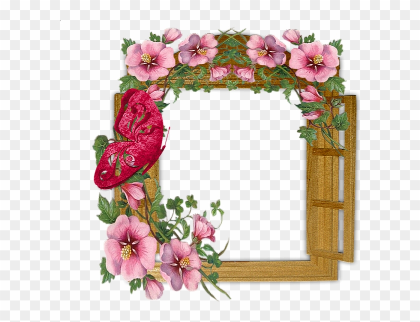 Frame Window In Flowers Clipart Window Borders And - Flowers Photo Frame Download #1413454