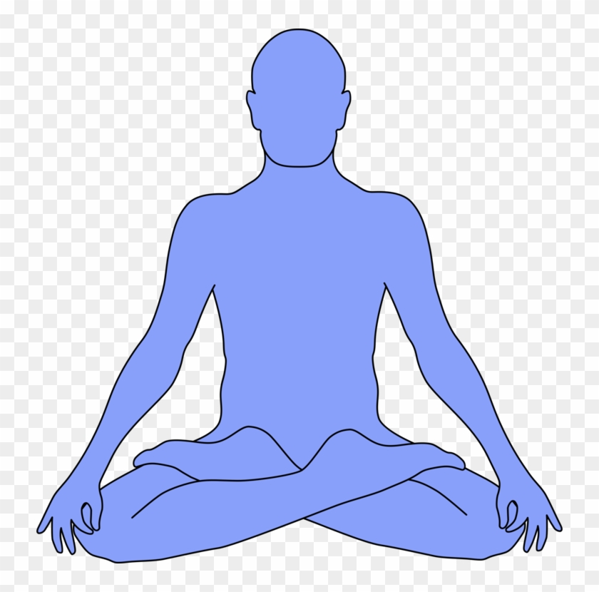 All Photo Png Clipart - Outline Of Person Meditating #1413646