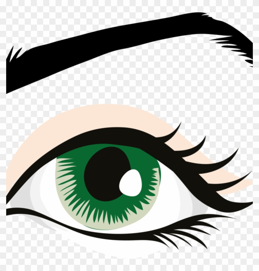 Human Eye Clip Art Human Eye Eyebrow Eyelid Organ Free - Eye With Eyebrow Clipart #1414241