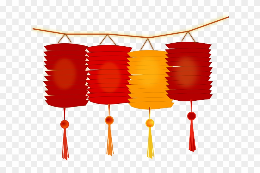 Lantern Clipart Chinese Culture - Chinese New Year Lanterns Clipart #1415925