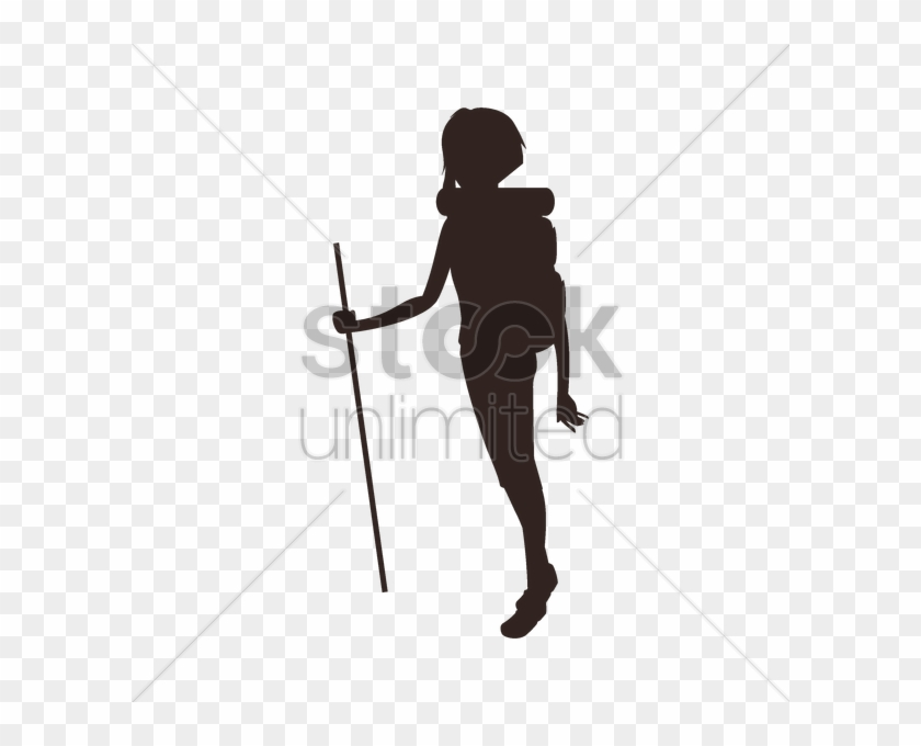 Hiking Clipart Woman Hiker - Illustration #1415964