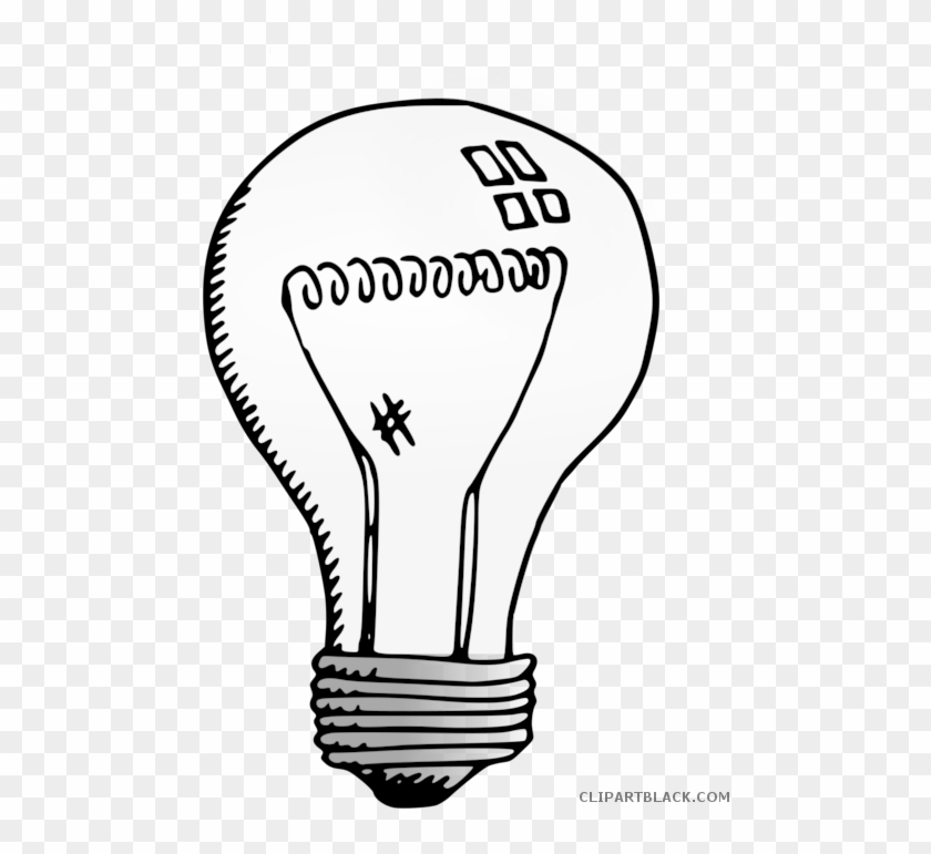 Light Clipart Black And White - Clip Art Transparent Light Bulb #1416110