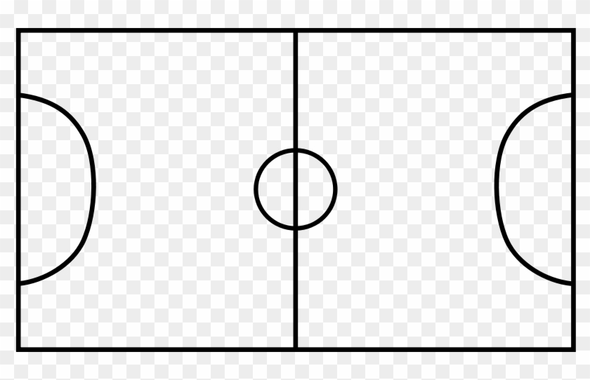 Svg Royalty Free Download Panda Free Images Soccerfieldclipart - Football Pitch Black And White #1416731