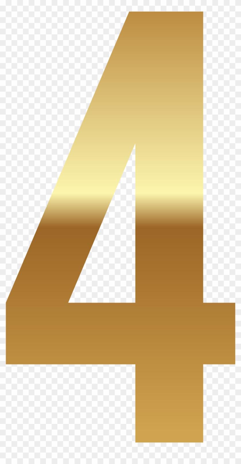 Golden Number Four Png Clipart Image - Golden Number 4 Png #1418472