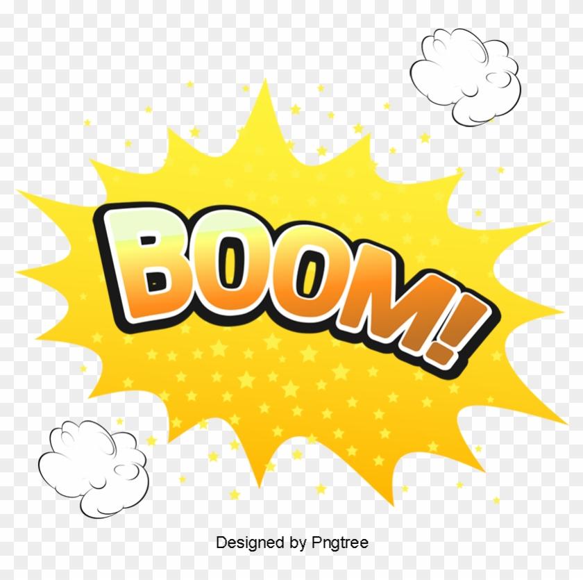 Boom Comic Explosion Vector Cloud, Vector, Cartoon