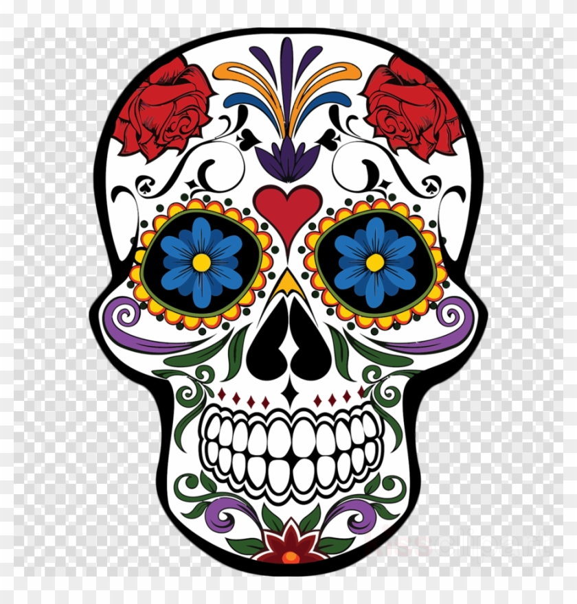 Download Mexican Day Of The Dead Skull Clipart Day - Mascaras De Calaveras Pintadas #1420772