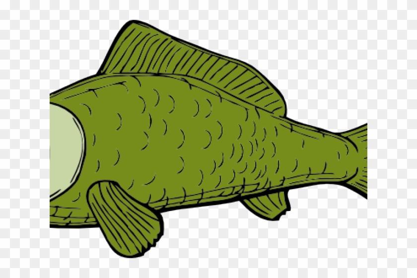 Dead Fish Clipart - Green Fish Shower Curtain #1420779