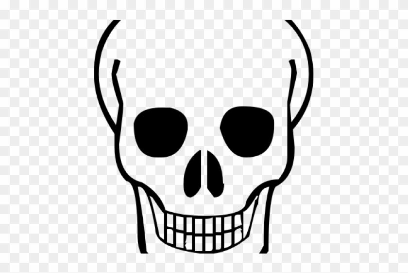 Dead Clipart Skull Bone - Easy Simple Skull Drawing #1420814