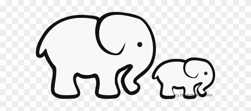 Clip Art Free Download Baby Clipartblack Com Animal - Baby Elephant Clipart Black And White #1422561