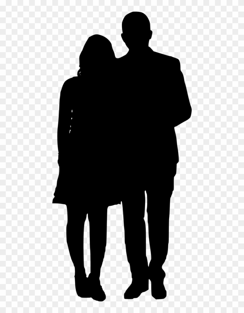 prom couple silhouette transparent background - Clip Art Library