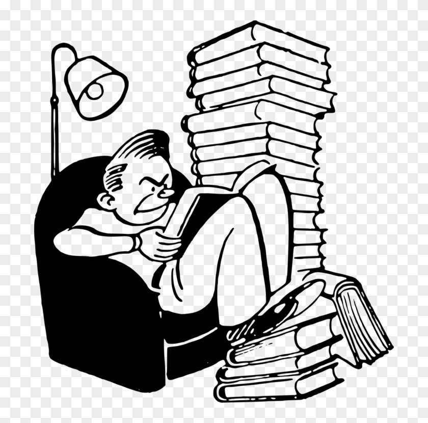 Reading Book Computer Icons Study Skills Drawing - People Reading Books Clip Art #1423175