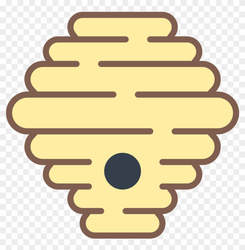 Bee Hive Clipart Hornets Nest - Beehive Outline #1423863