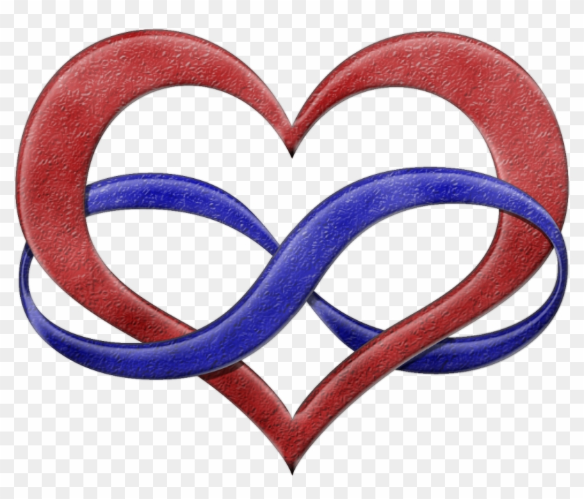 Polyamory Pride Infinity Heart Symbol In Pride Flag