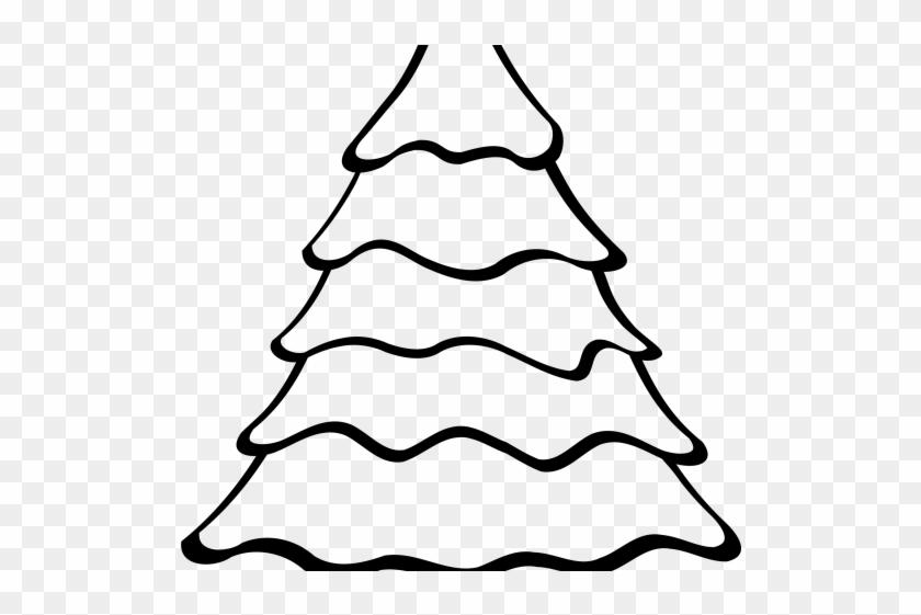 Oregon Clipart Logo - Plain Christmas Tree Coloring Page #1425231