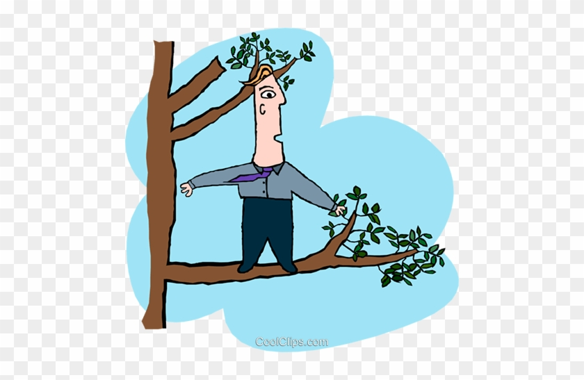 Business Out On A Limb Royalty Free Vector Clip Art Cartoon Man In Tree Free Transparent Png Clipart Images Download Whether a themed party or new year's eve, these green tree cartoon never fail to impress. business out on a limb royalty free