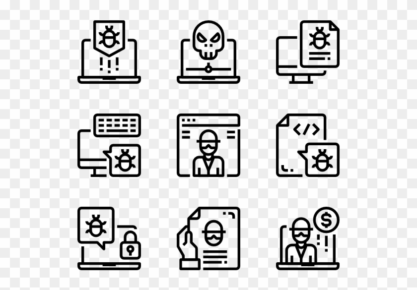 Hacker Vector White Background Picture Black And White Concepts Icon Png Free Transparent Png Clipart Images Download
