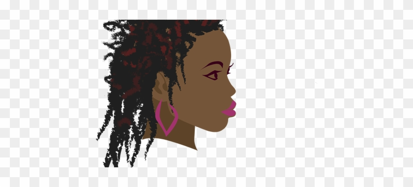 Clipart Royalty Free Library Afro Transparent Svg - Head Silhouette Silhouette Woman Png Face Braids #1428125