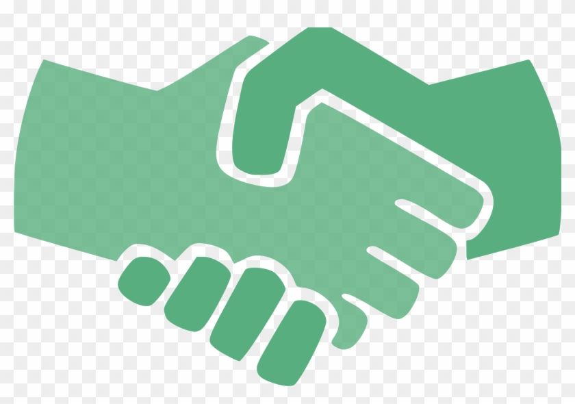 Computer Icons Icon Design Handshake Symbol Download - Green Handshake #1428347