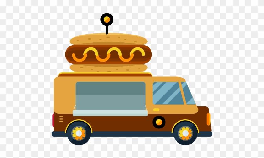 Delivery Clipart Van School - Hot Dog Delivery Truck #1428725
