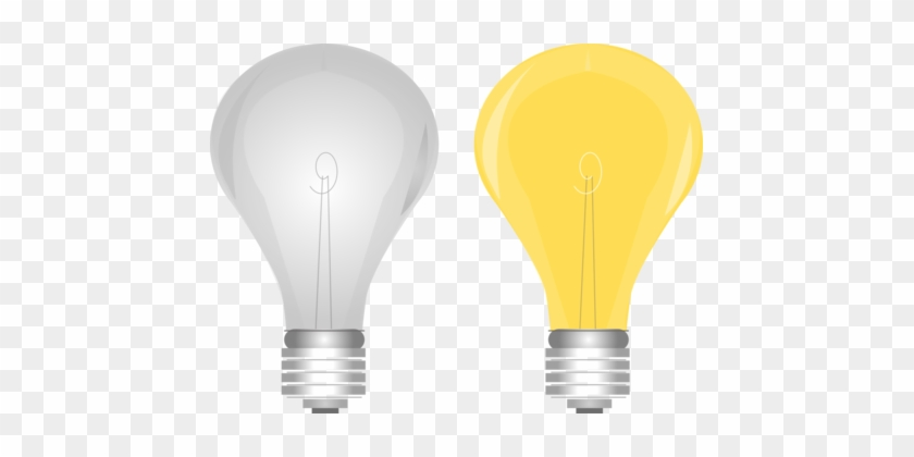 Incandescent Light Bulb Electric Light Compact Fluorescent - Light Bulb On Off Png #1428911