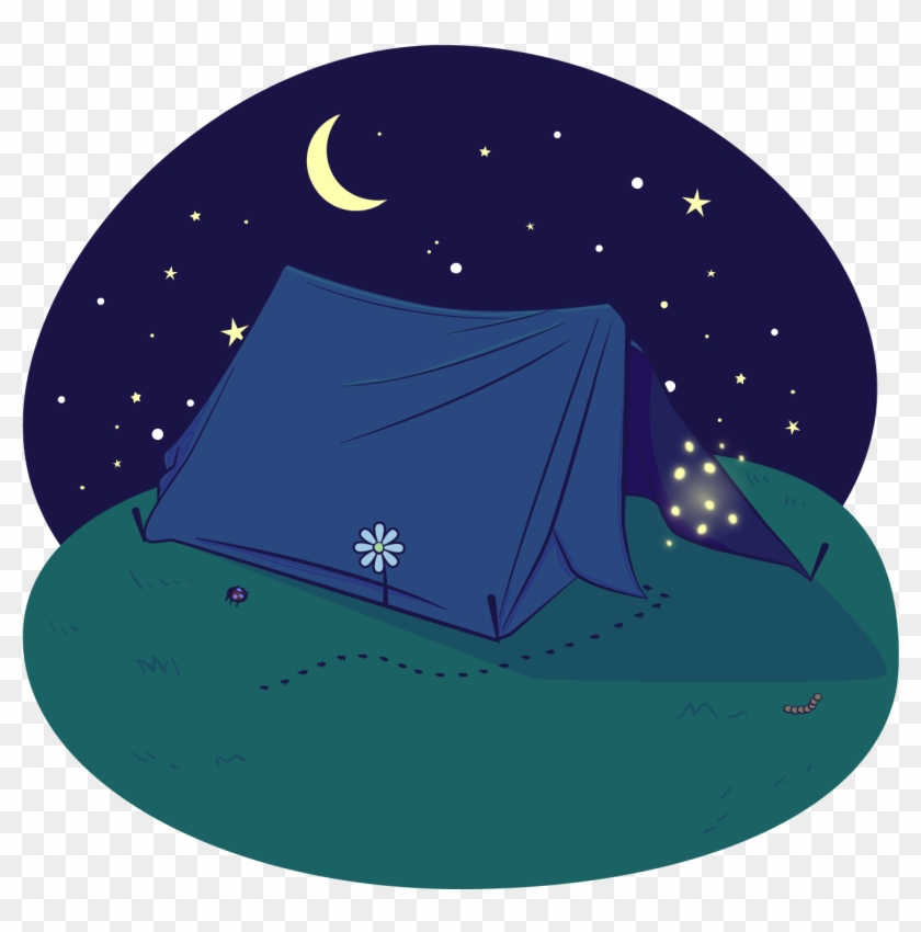 Tent Illustration Outdoors Transprent - Night Camping Png #1429113