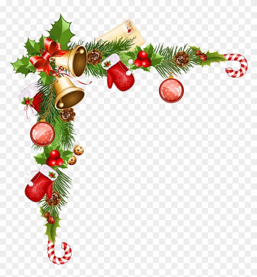 Christmas Border Png Christmas Border Png File Vector - Christmas Corner Decorations Png #1429280