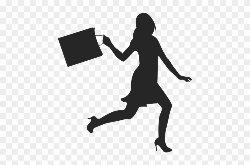 Clip Art Royalty Free Download Great Woman Walking - Woman Shopping Bag Silhouette #1429617