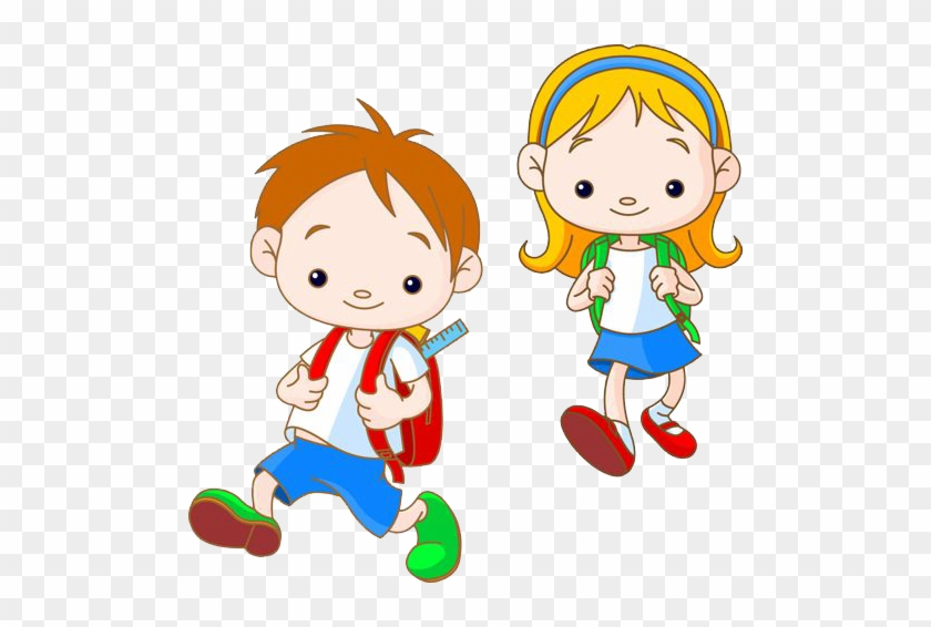 At Our Kids World We Aim To - Student Go To School Clipart #1431755