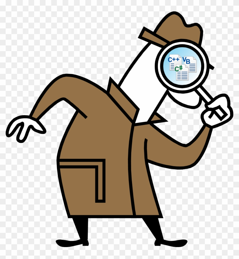 Microsoft Research - Cartoon Detective With Magnifying Glass #222439