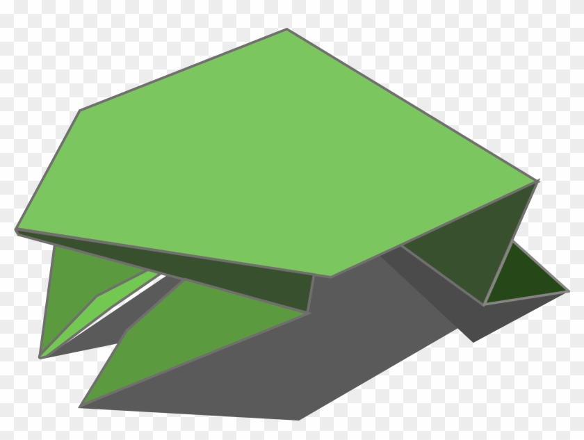 Origami Jumping Frog - Clip Art Origami Frog #222516