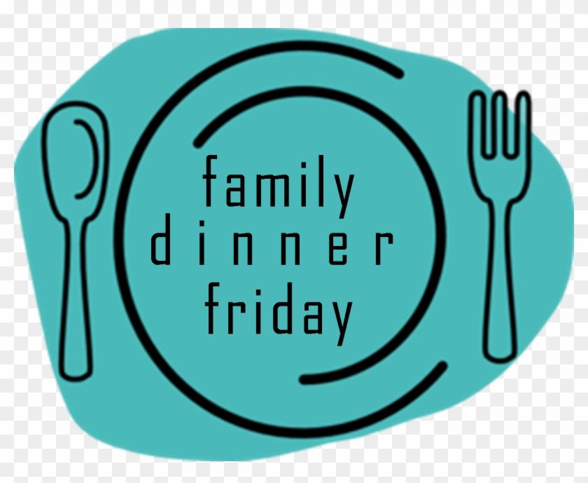 Family Dinner Friday - Plate Fork And Knife Clipart #222586