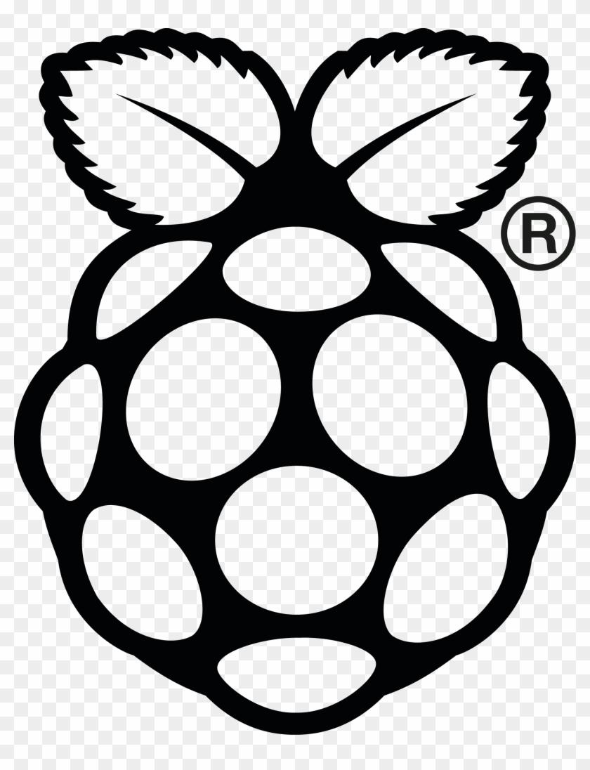 Rpi Logo Black Reg Print - Raspberry Pi 2 Logo #222610
