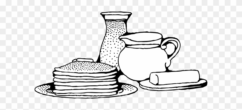 Candlemas Clipart - Black And White Breakfast #222673