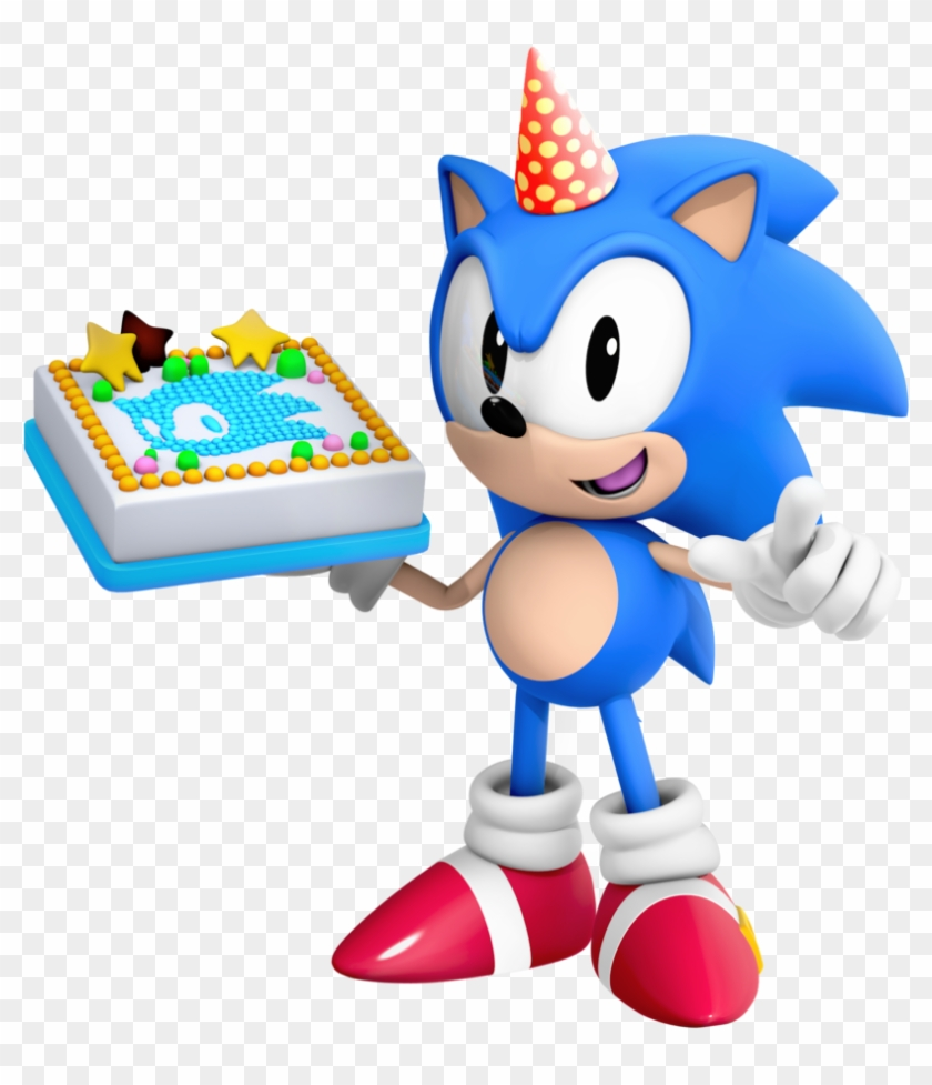 Classic Sonic Birthday Render By Nibroc Rock Sonic The Hedgehog Birthday Free Transparent Png Clipart Images Download