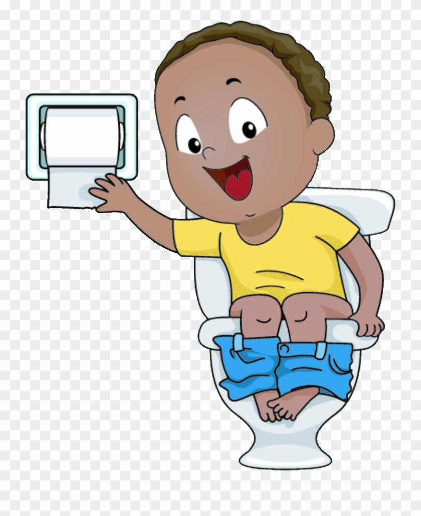 toilet training clip art cartoon boy sitting on toilet