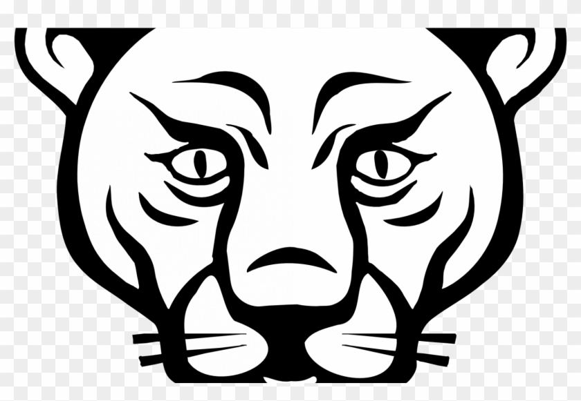 Animal Faces Lion Black White Line Art Coloring Sheet - Animals Faces To Draw #223742