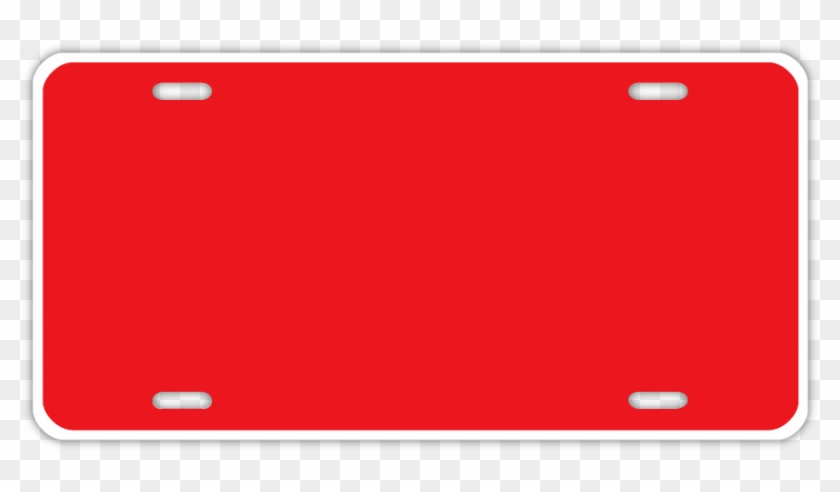 Printable License Plate Template Blank Red License Plate Free
