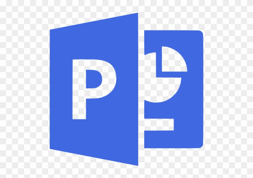 Royal Blue Microsoft Powerpoint Icon - Black And White Microsoft Powerpoint Logo #223833
