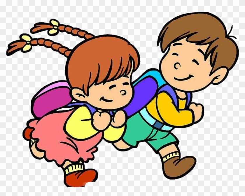 Student Child Kindergarten Education Clip Art - Kids Cartoon School Image Hd Png #223845