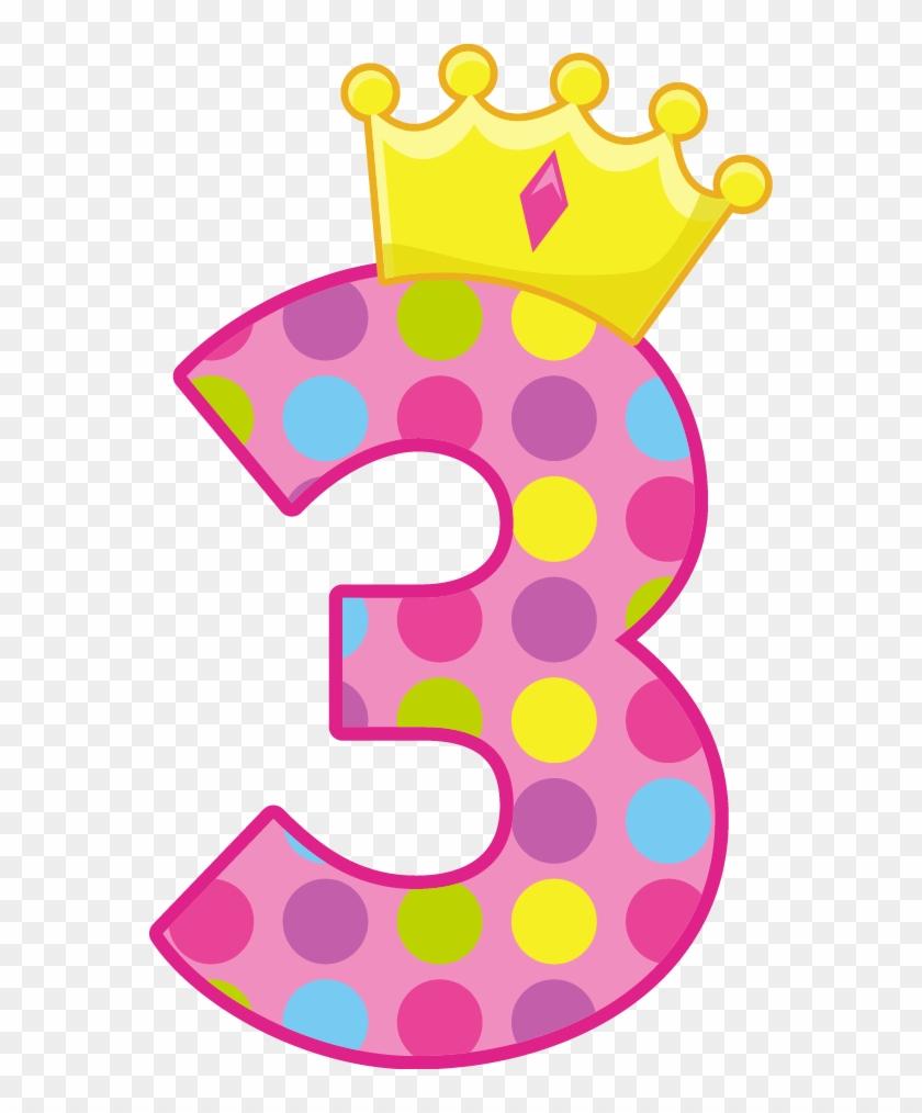 Birthday Numbers, Clip Art, Kids Centerpieces, Ideas - Birthday Number 3 #223865