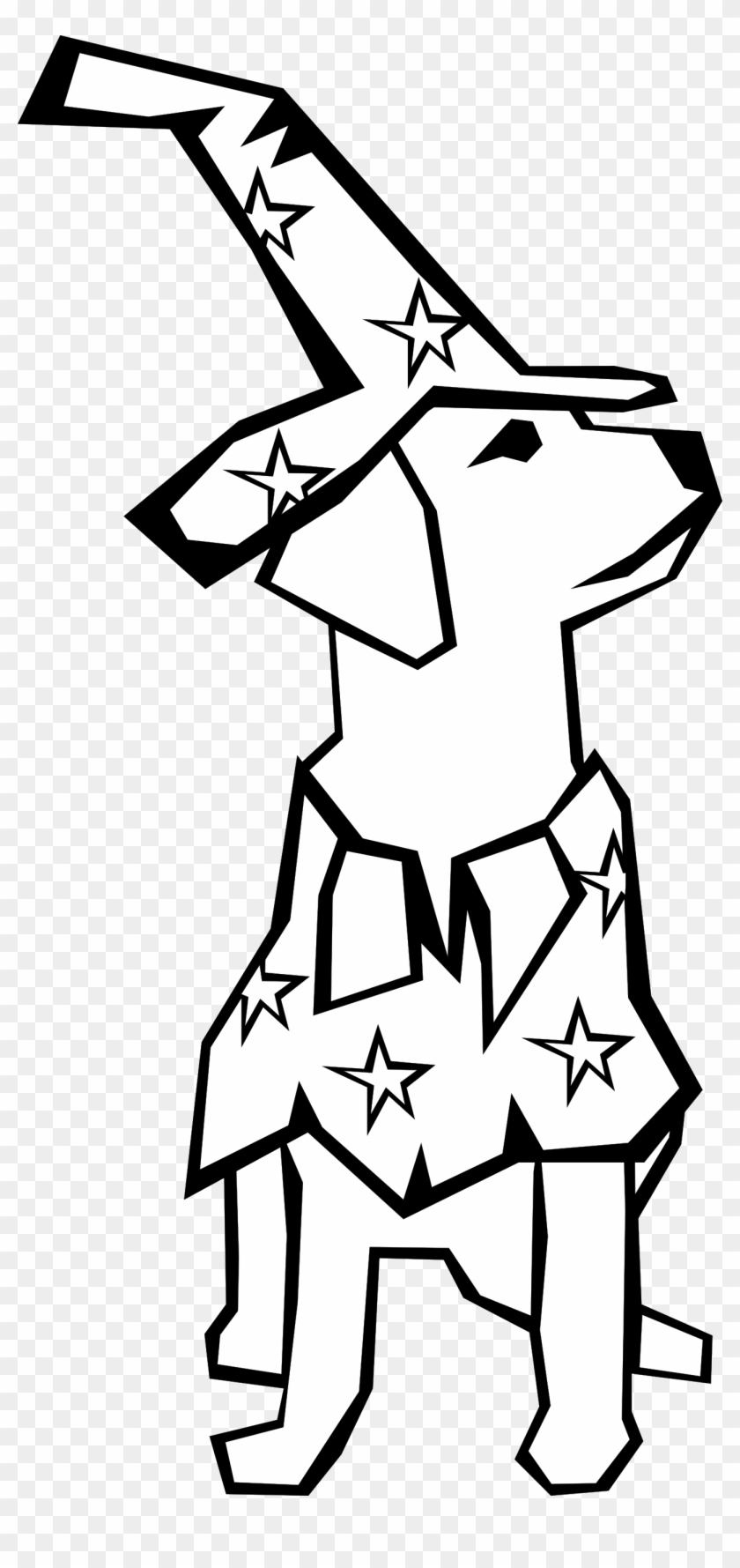 line drawing of a dog - clipart black and white halloween dog