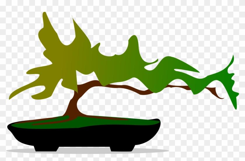 Tree Clip Art Microsoft Log Tree Clipart - Bonsai .png #224169