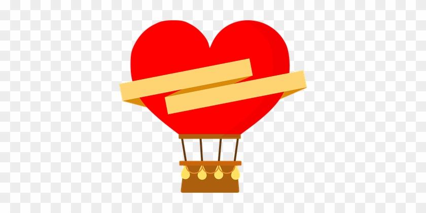 Ballon, Liebe, Herz, Romantische - Globos Aerostaticos Corazon Png #224268