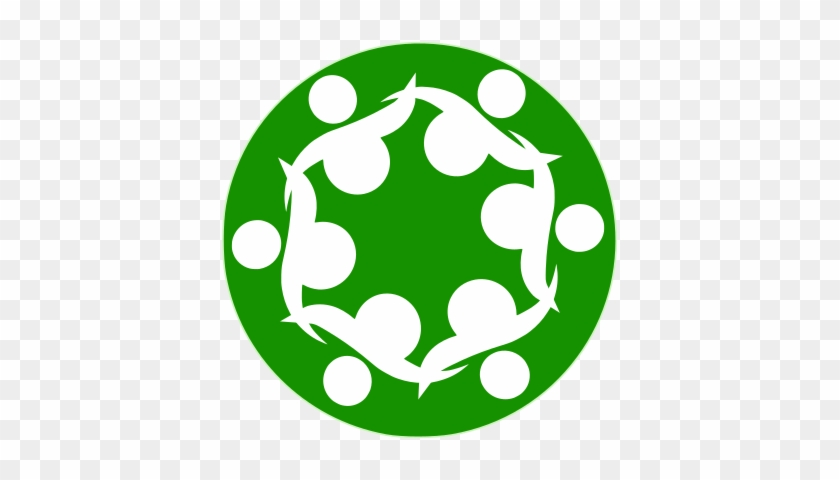 A Stylized Circle Of People - Open Source Community Icon #224520