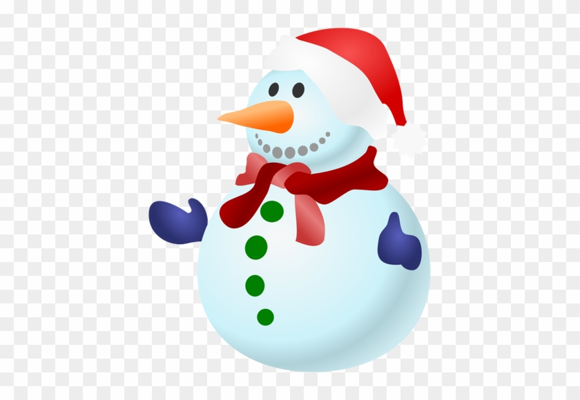 Von Fröhlich Bunten Schneemann Mit Schal Clipart - Christmas Snowman Clip Art #224590