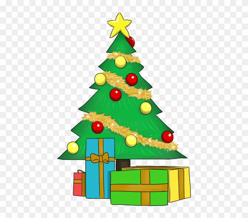 Christmas Day Clipart Cliparts - Christmas Tree Clip Art With Presents #224591