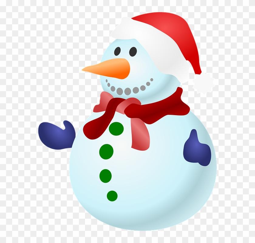 Immagine Gratis Su Pixabay - Christmas Snowman Clip Art #224665