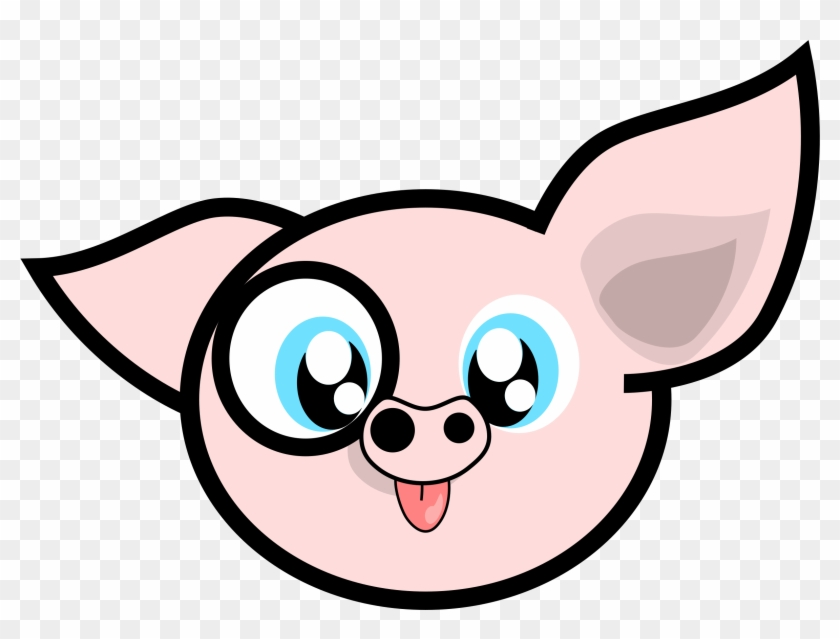 Free Vector Porcinet Clip Art Graphic Available For - Cute Pig Cartoon #224777