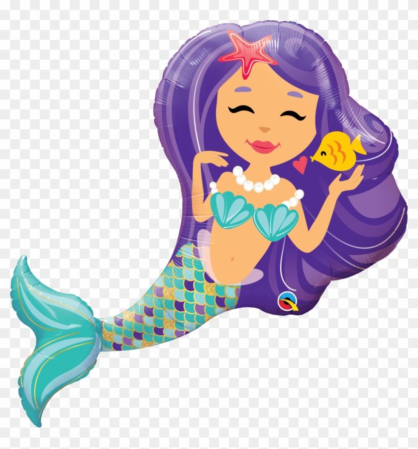 Folienballon Entzückende Meerjungfrau 97cm - Mermaid For Party Theme #224793